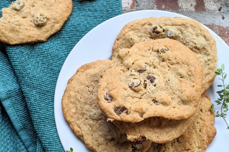 farmhouse chocolate chip cookies with secret ingredient apple cider vinegar