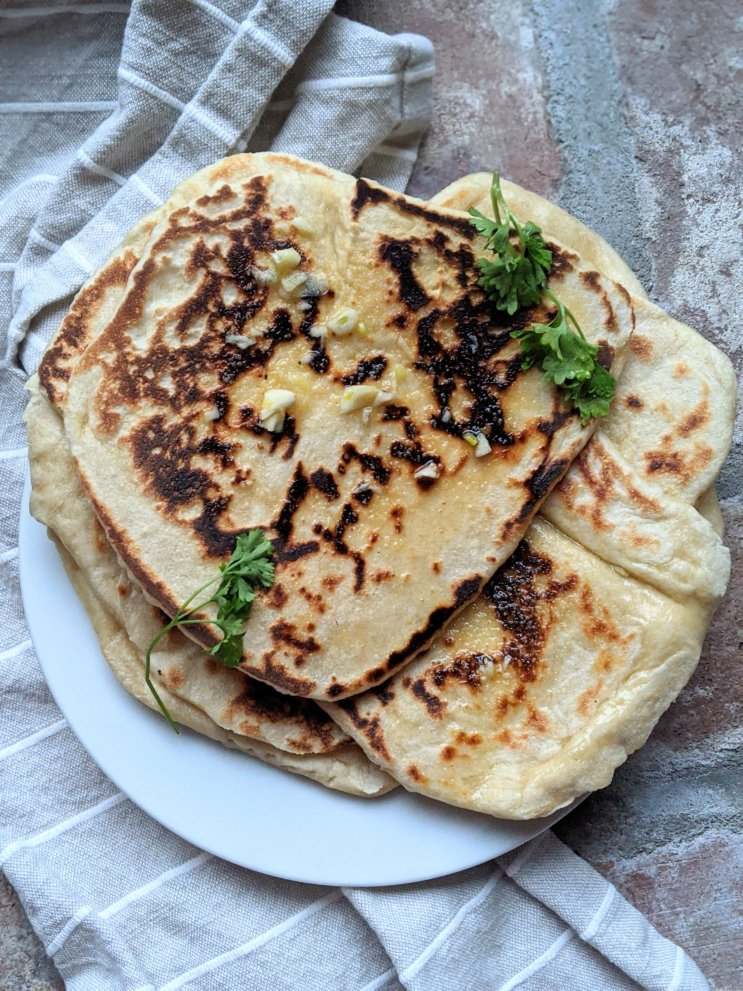 sourdough discard naan recipe with garlic and olive oil and parsley to eat with indian food side dishes dosa naan bread reacipe easy homemade naan with sourdough starter