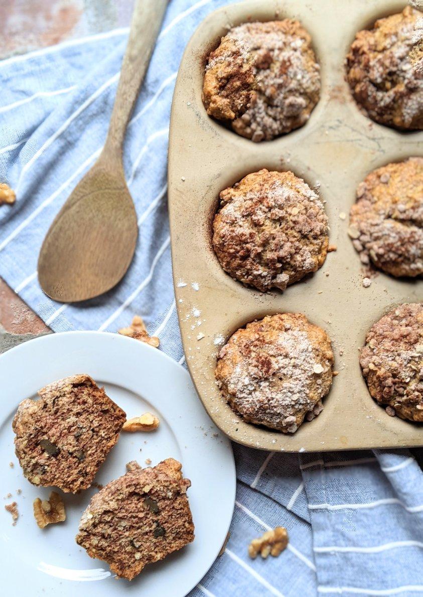 healthy fruit muffins recipe vegan vegetarian breakfast meal prep recipes healthy make ahead meals for snacks apples cinnamon apple sauce coconut oil walnuts