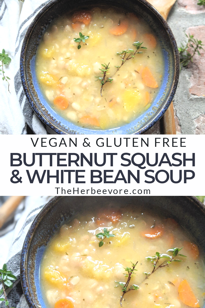 butternut squash and white bean soup recipe healthy vegan gluten free easy to make 30 minutes recipes