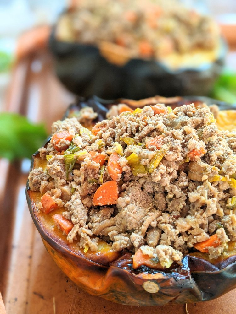 best ways to use leftover turkey stuffed acorn squash keto gluten free low carbohydrate