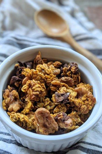 pumpkin pie spice granola recipe vegan gluten free