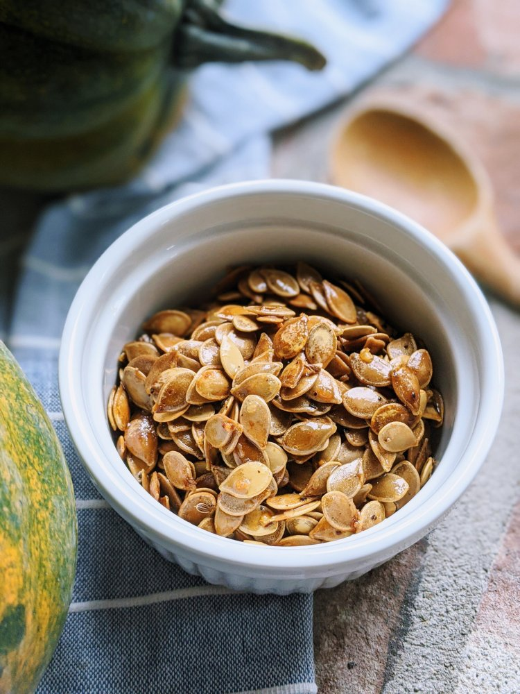 roasted low and slow acorn squash seeds for healthy amazing flavor great high fiber snack recipes easy homemade gluten free vegan vegetarian meatless snacks