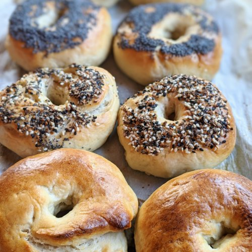 veagn sourdough bagels recipe from scratch from sourdough discard starter recipe healthy bagel homemade