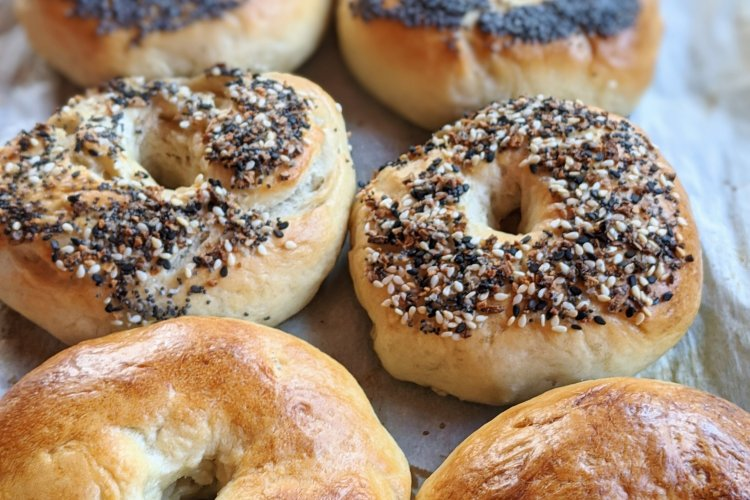 veagn sourdough bagels recipe from scratch from sourdough discard starter recipe healthy bagel homemade