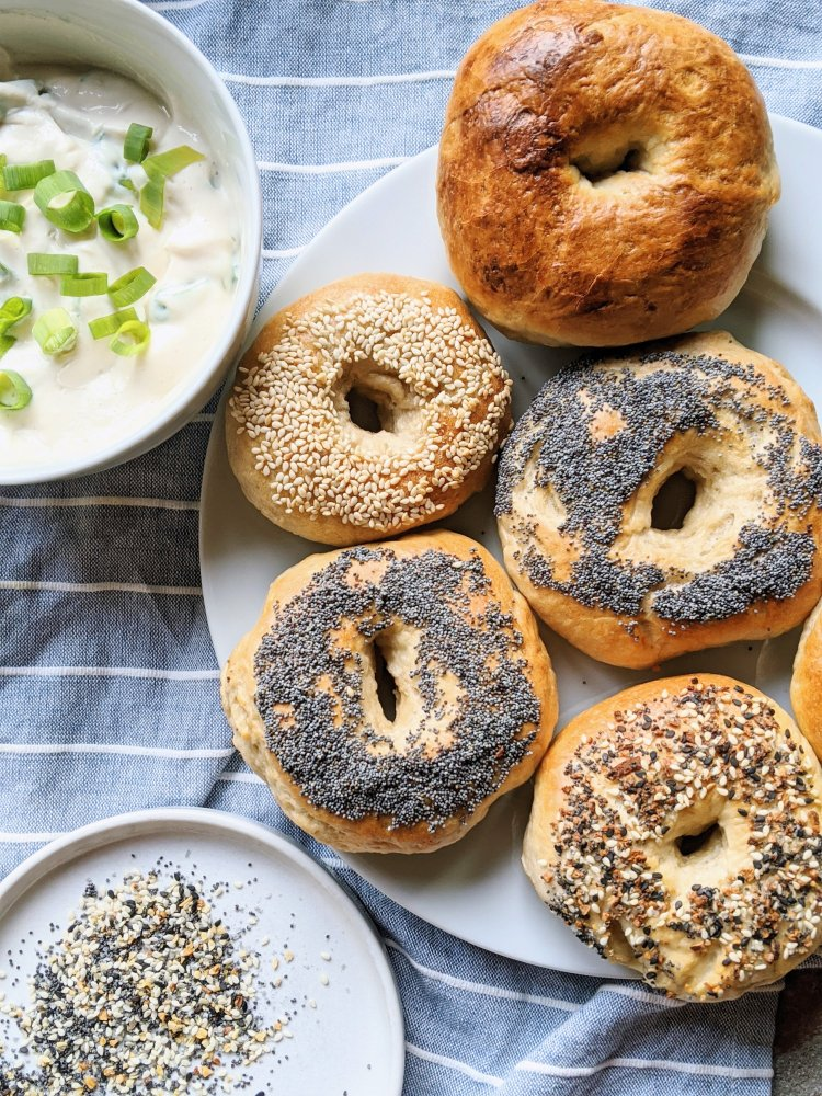 homemade everything bagels best brunch recipes with sourdough starter castoff discard made from scratch cheap brunch recipes inexpensive breakfast ideas