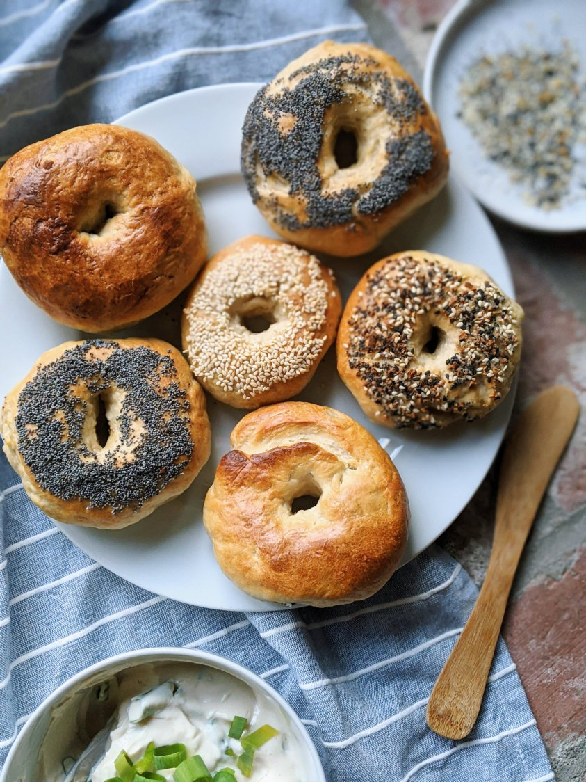 breakfast recipes kids will love homemade bagels with cream cheese recipe pizza bagels sourdough castoff recipes easy vegan home cook