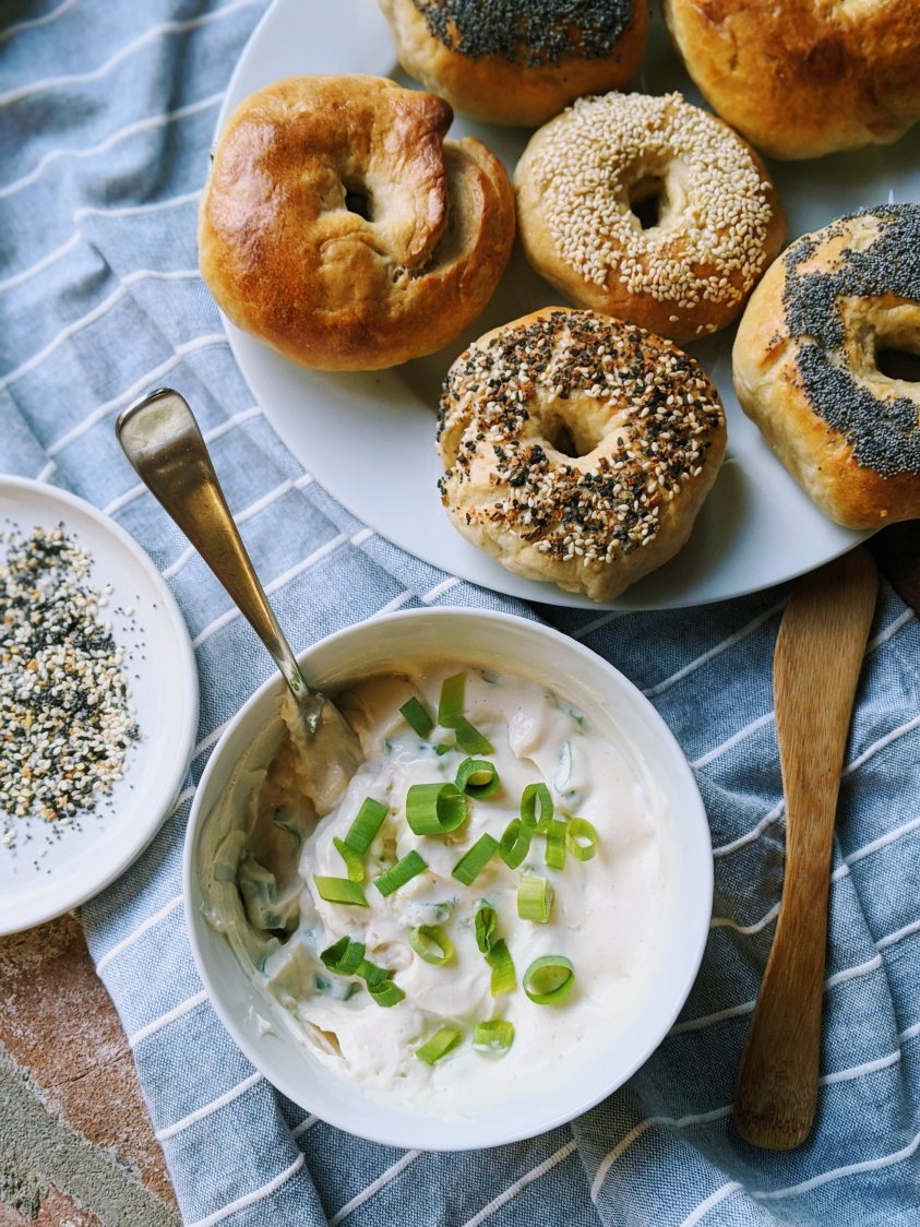 homemade vegan bagels with dairy free cream cheese recipe impressive brunch recipes with sourdough starter easy fun to make with kids