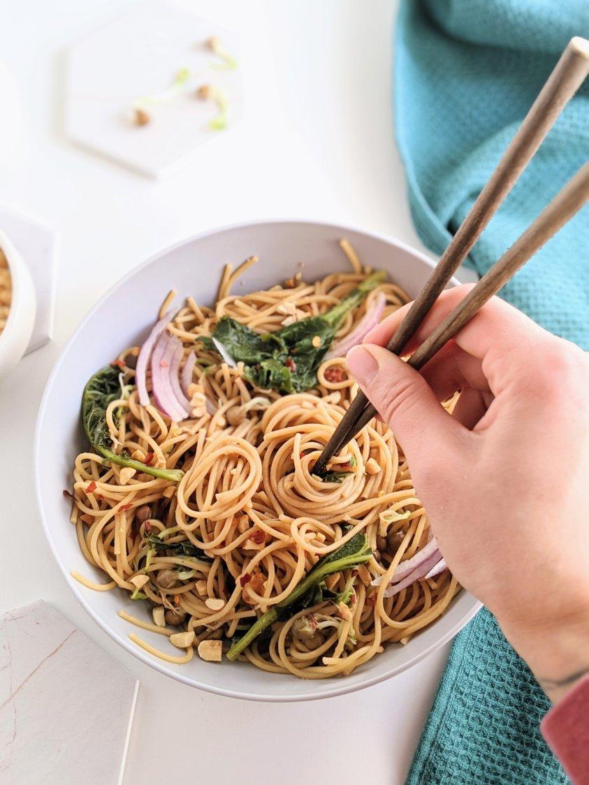 easy peanut noodles recipe vegan vegetarian gluten free protein meatless mondays meal ideas healthy yummy kids will love friendly family