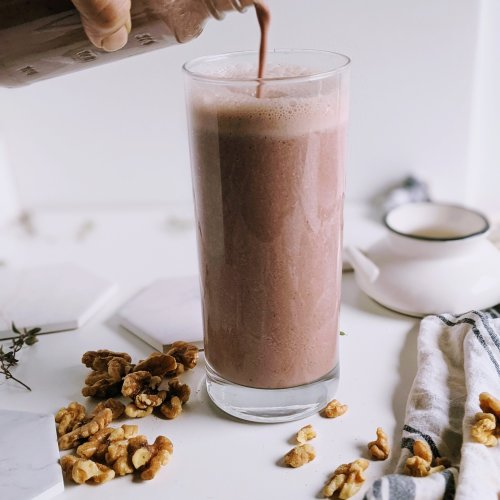 vegan workout recovery smoothie post workout helthy fats high protein plant based vegetarian no animal products rebuild muscle