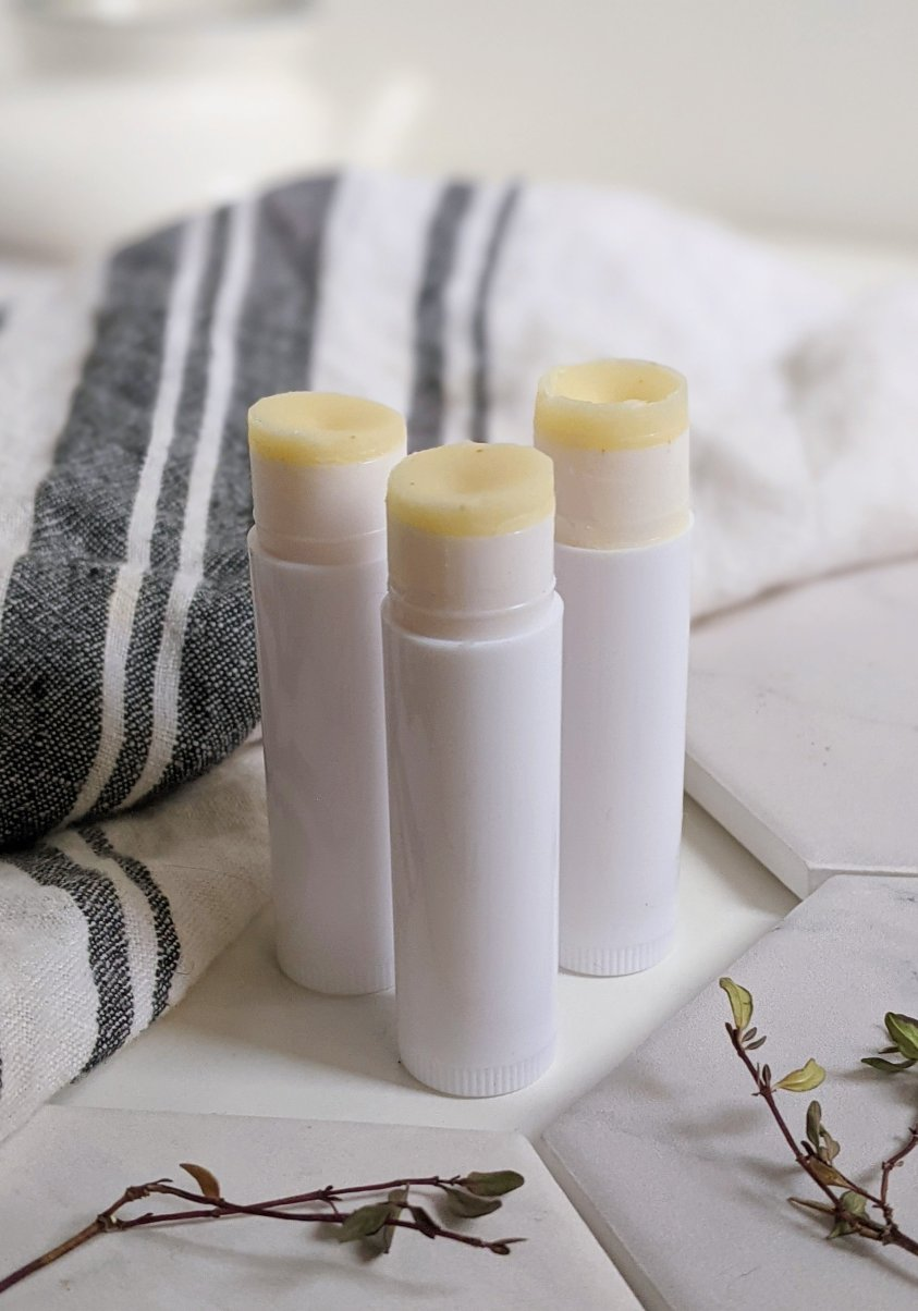 diy beeswax lip balm at home with a kit and simple natural ingredients vitamin e for soft lips and natural uses for beeswax recipes homemade healthy burts bees copycat recipe copy cat at home
