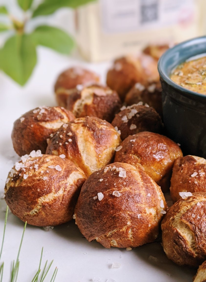 salted pretzel bites side dish appetizer no salt baldies healthy pretzels for dipping vegan whole grains recipes side dishes best appetizers for entertaining holiday potluck parties