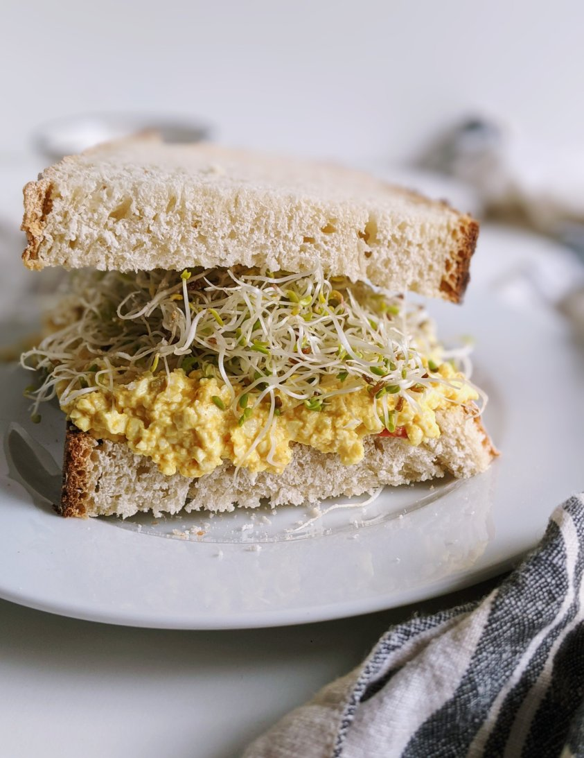 high protein vegan sandwich recipes with silken tofu shelf stable pantry ingredients healthy sprouts sandwiches for luc or dinner vegetarian gluten free