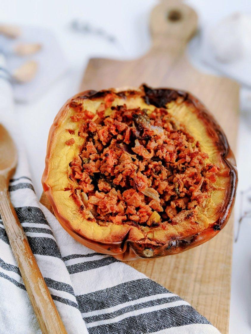 vegan stuffed acorn squash recipe healthy vegetarian thanksgiving christmas recipes with acorn squash roasted stuff acorn squash