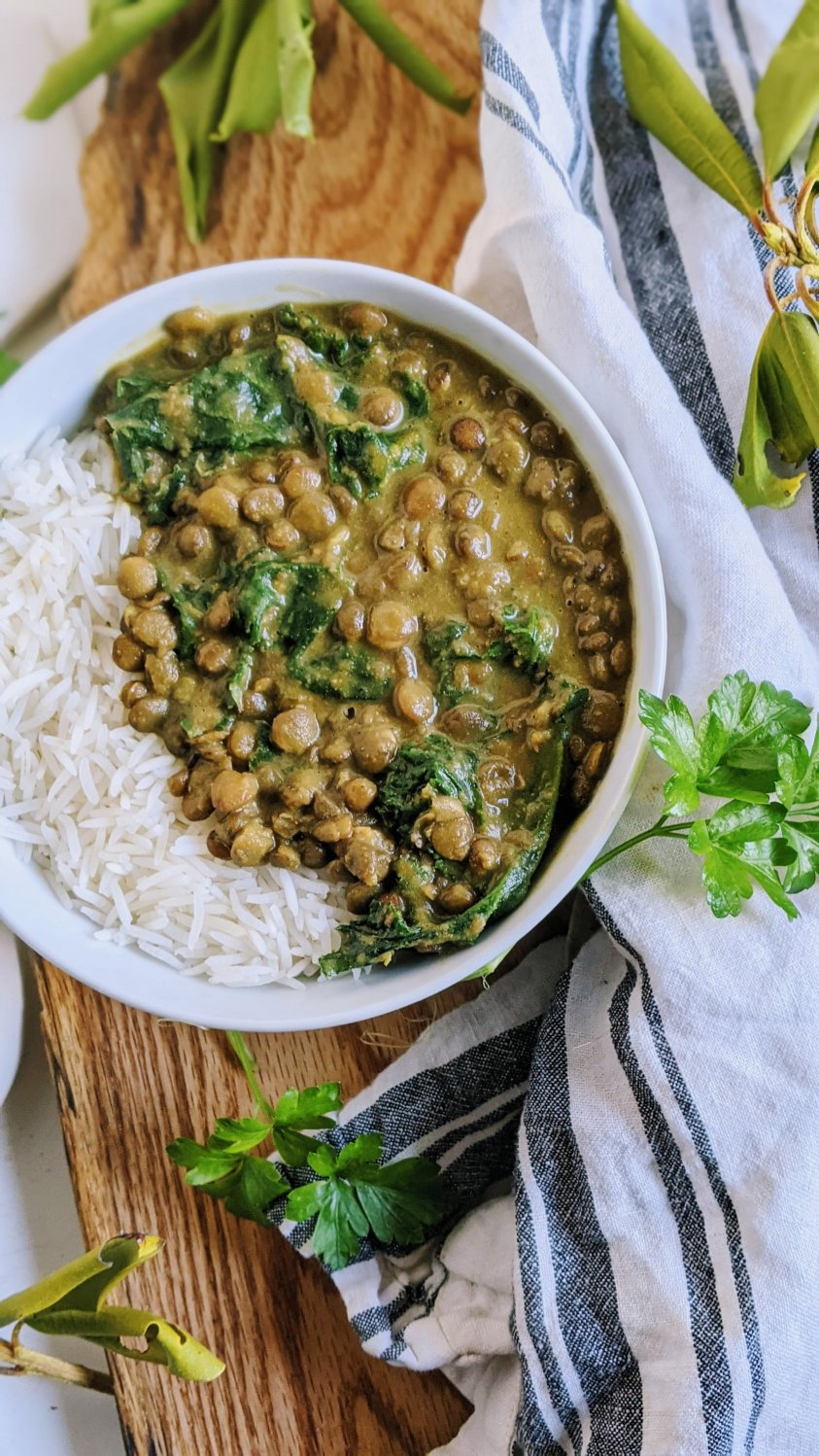 coconut curry lentils vegan gluten free coconut milk lentil curry recipe healthy high protein plant based veganuary dairy free meal prep with lentils recipe