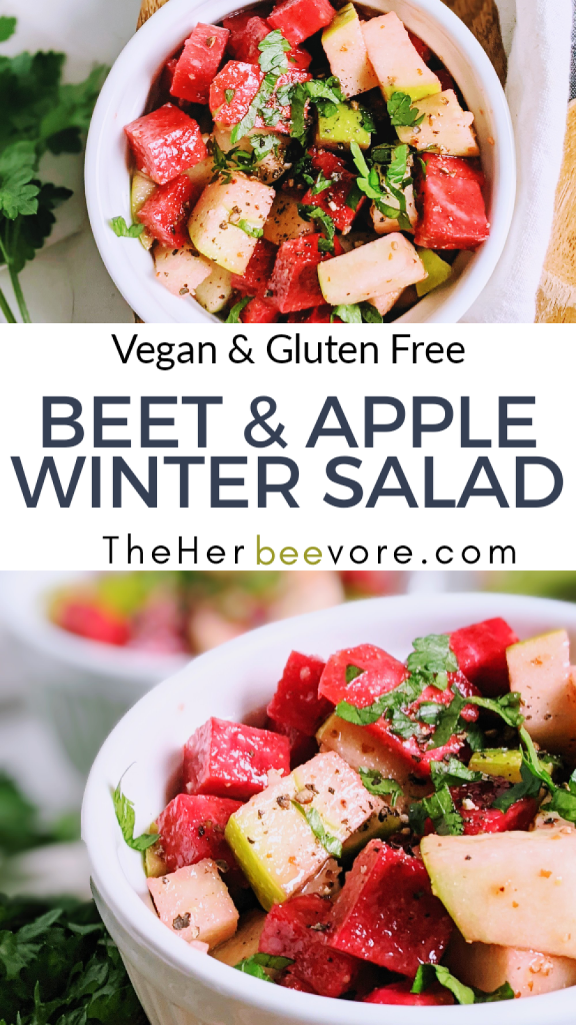 beet and apple winter salad recipe with apple cider vinegar dressing healthy vegetarian veganuary winter salads recipes for raw vegan filling healthy beet apple