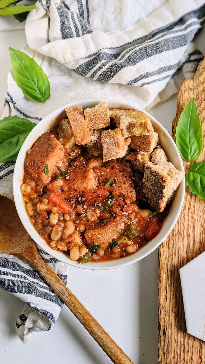 recipes with stale bread vegan gluten free bread soup ribollita with french green lentils health vegetarian high protein recipes