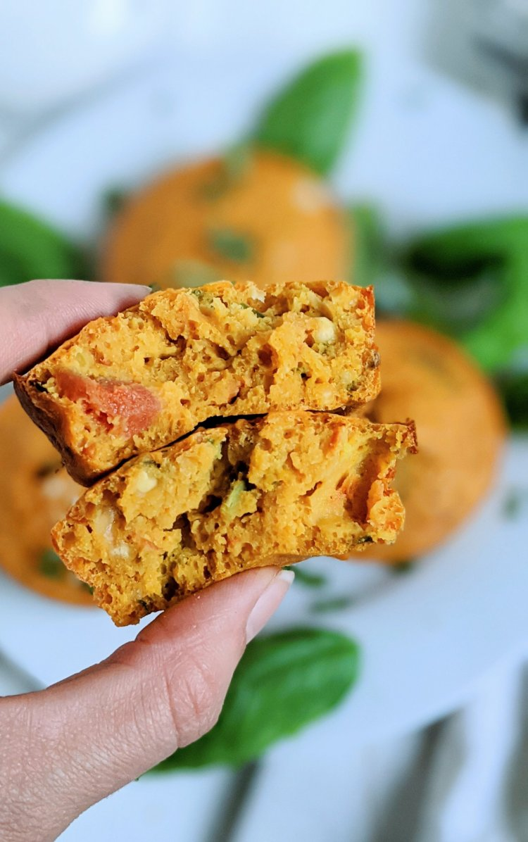 egg free muffins vegan meal prep ideas tomato basil chickpea muffins italian gluten free grain free breakfast recipes meal prep make ahead pantry staple ingredients no eggs no flour no butter