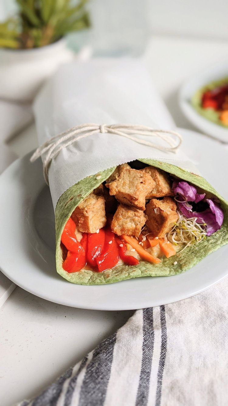 high protein vegan wraps sandwiches punches dinners light and filling meal ideas vegetarian plant based healthy gluten free meatless tofu recipes with tahini sesame paste vegetables hummus