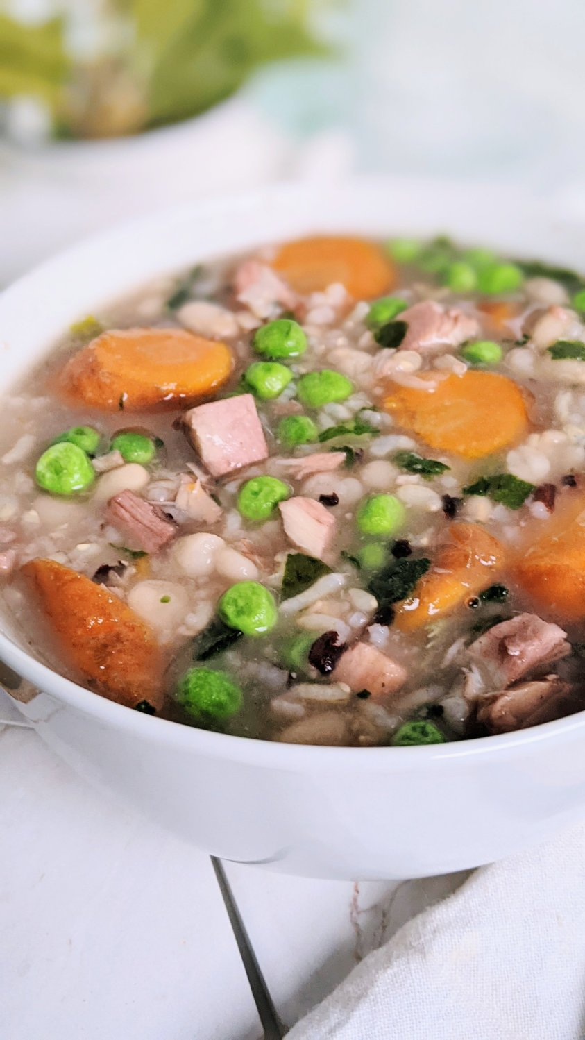 creamy turkey and wild rice soup dairy free gluten free thanksgiving leftover soup with white beans healthy turkey recipes leftovers