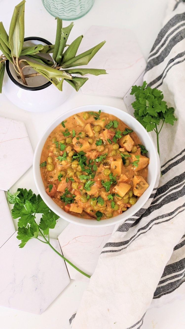 instant pot aloo matar potato and pea curry recipe healthy plant based curries 30 minute curry recipe