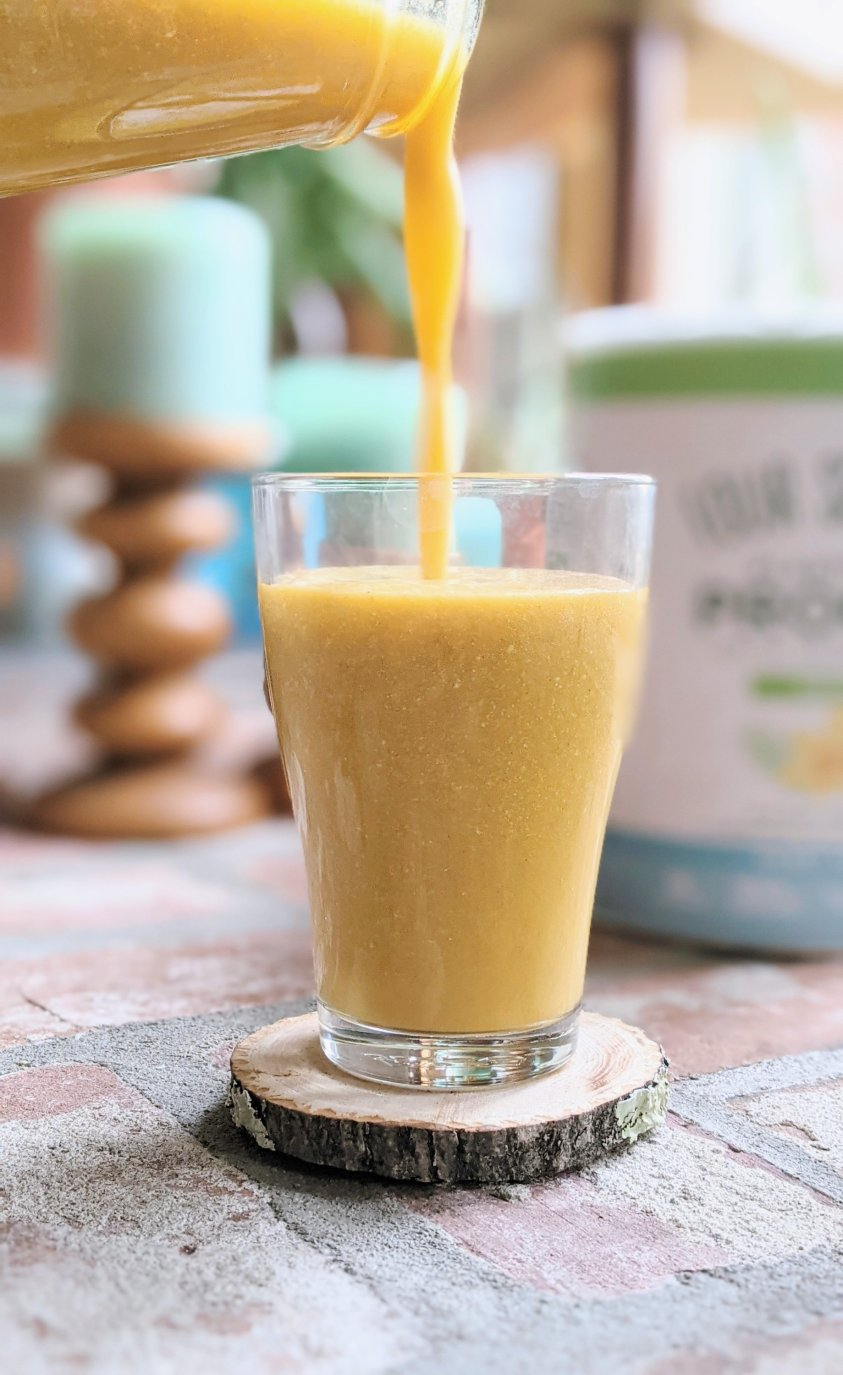 foursigmatic protein smoothie recipe healthy plant based vegan smoothies with mango ginger turmeric smoothie