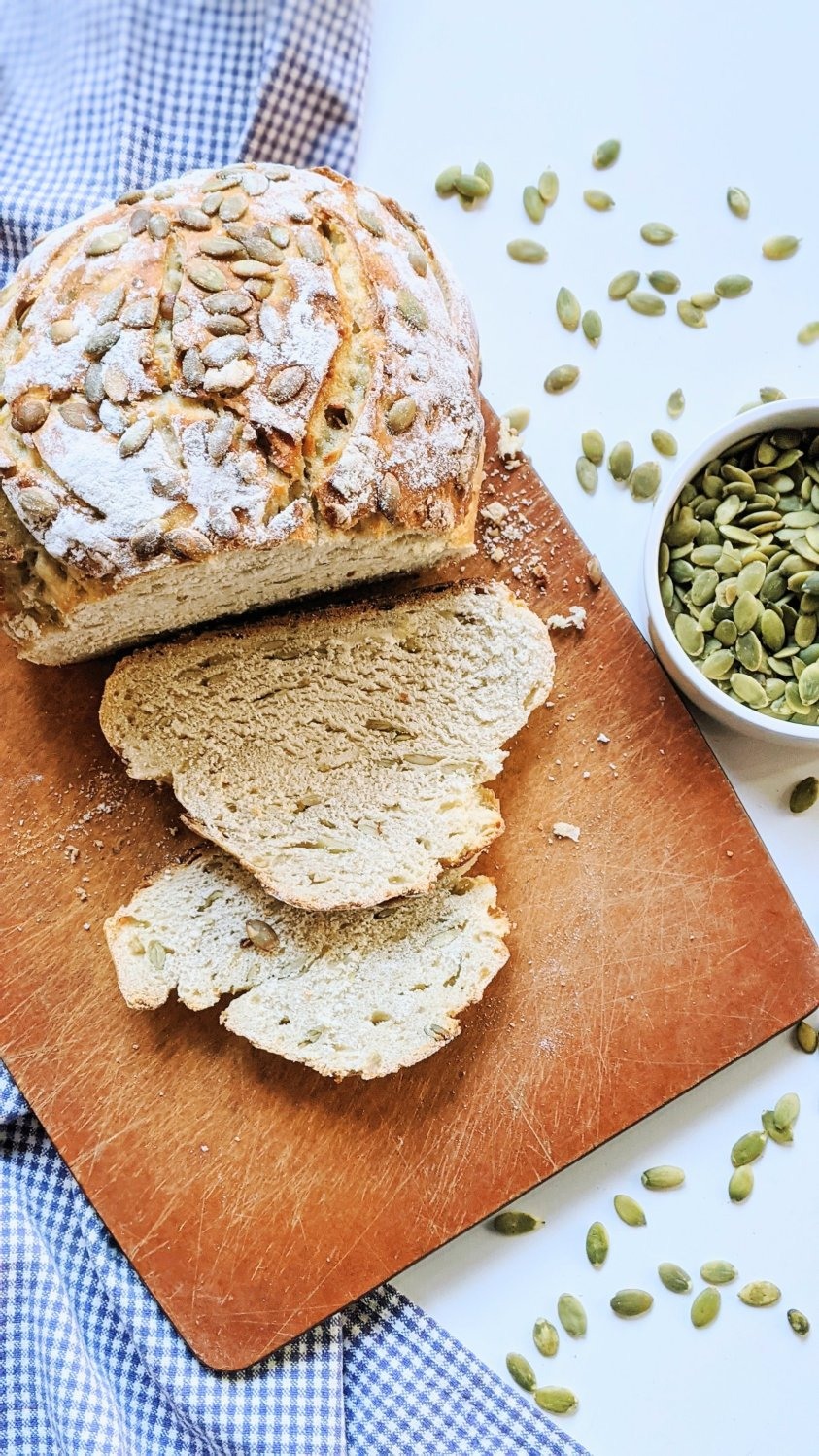 pumpkin seed bread with sourodugh discard starter vegan egg free bread recipes with pepitas bread recipes simple seeded sourdough recipe