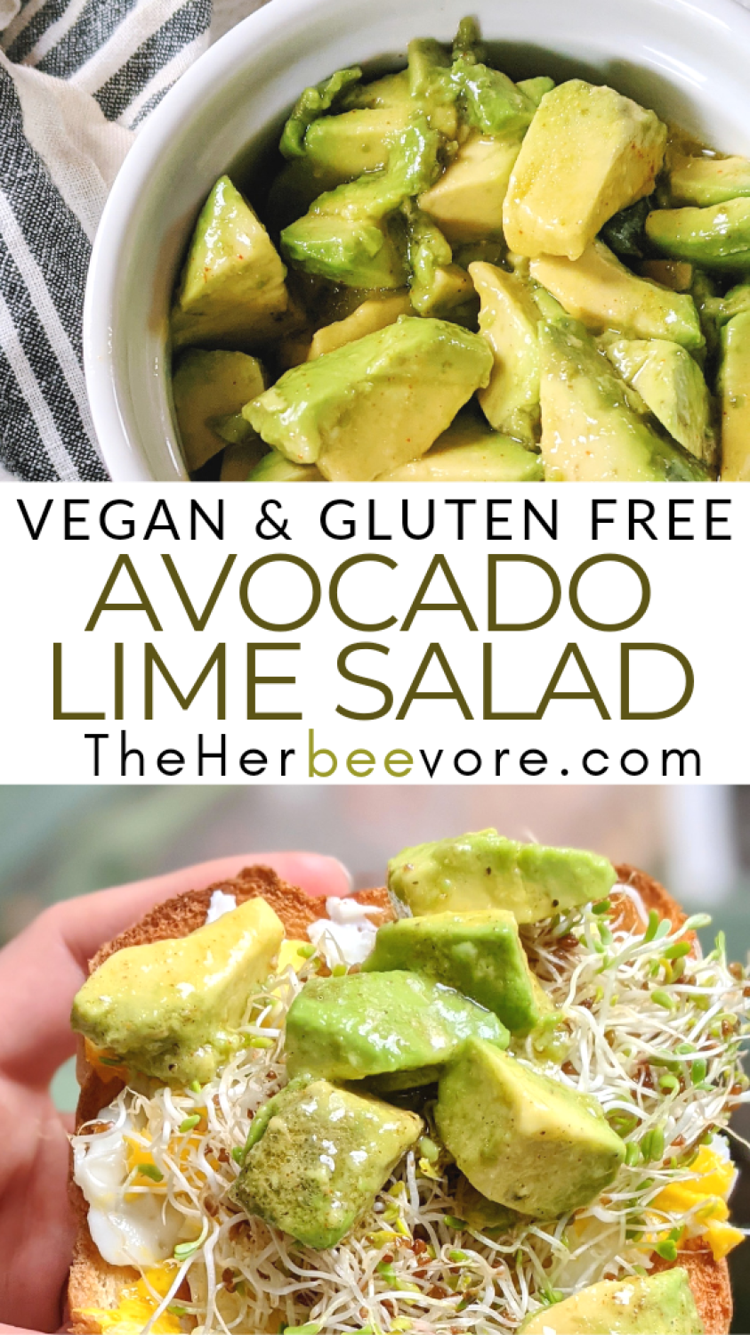 lime avocado salad recipe with lime vinaigrette dressing vegan gluten free healthy vegetarian avocado breakfast recipes salads with avocados plant based healthy fats for breakfast recipes