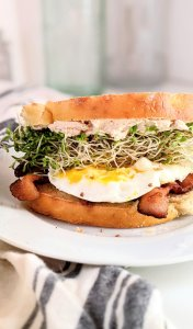 brioche breakfast sandwich recipe wbacon and egg brioche sandwiches extra brunch recipes popular best brunches easy make your own breakfast sandwich bar with brioche bread