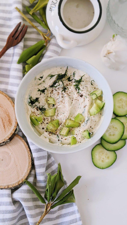 vegan garlic tzatziki sauce with tofu recipe dairy free cucumber yogurt sauce for falafel creamy pita sauce dill dip recipes with silken tofu sauces