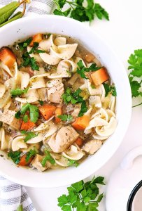 gluten free turkey noodle soup with egg noodles broad noodles no wheat healthy soup recipes for leftover turkey dairy free thanksgiving leftover turkey recipes