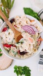 healthy tzatziki pasta salad vegan vegetarian veggie pasta salad dishes summer side dish