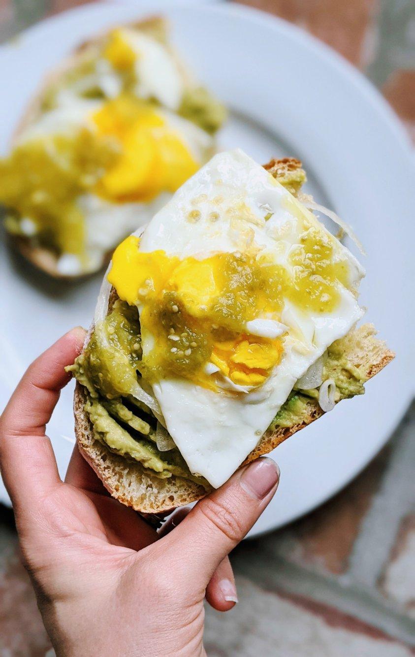 tomatillo breakfast sandwich with salsa verde recipe healthy high protein brunch sandwiches gluten free vegetarian spanish brunch recipes