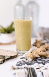 ginger basil smoothie recipe sweet and spicy ginger smoothies for breakfast anti-inflammatory smoothie recipes 5 minue blender breakfasts with ginger vegan gluten free vegetarian