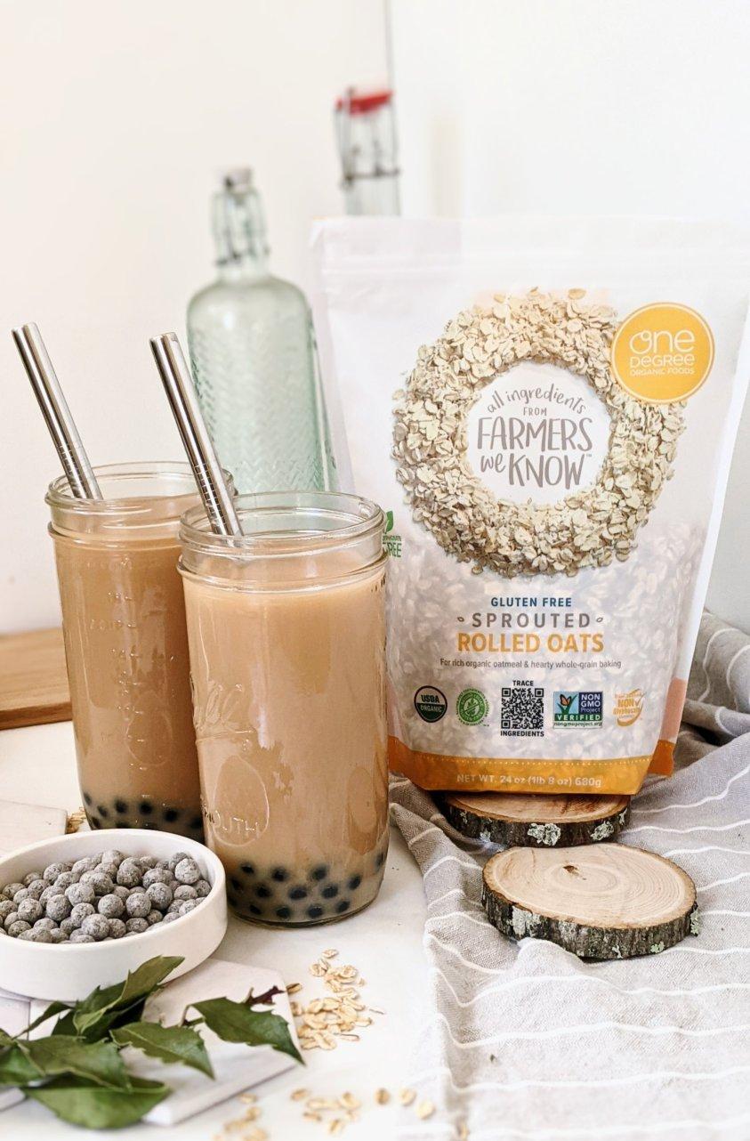 vegan bubble tea recipe gluten free tapioca pearls boba dairy free tea recipe with oat milk homemade vietnamese oat milk tea