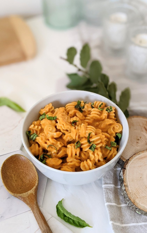 high protein vegan pasta sauce recipe creamy tomato sauce no cashews dairy free vegan pasta sauce nut free tomato sauce no dairy healthy roasted vegetable sauce blended
