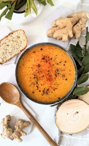 red lentil ginger soup recipe vegan gluten free oil free lentil soups healthy fat free lentil soup recipe
