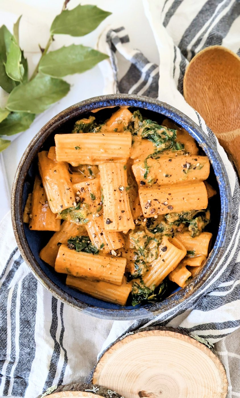 creamy spinach tomato pasta vegan dairy free gluten free creaamy tomato pasta no cashews nut free creamy vegan pasta sauce recipes with spinach pasta and veggie recipes easy weeknight dinners
