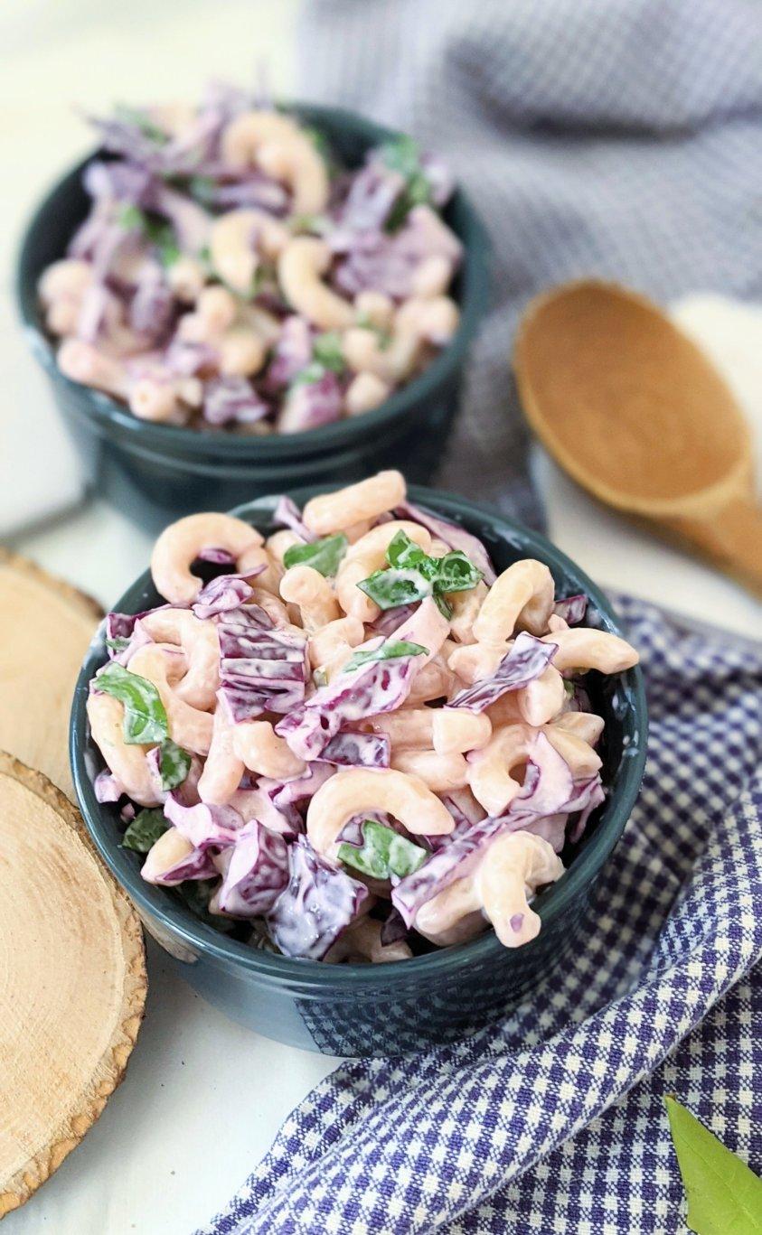 cabbage macaroni salad recipe vegan gluten free dairy free macaroni salad no mayo recipe ranch mac salad summer side dish vegan