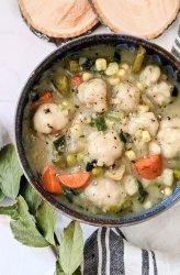 spring vegetable dumpling soup vegan gluten free healthy spring recipes plant based meatless recipes for spring