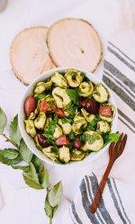 vegetarian pesto tortellini recipe healthy vegan tortellini pasta salad recipe healthy veggie pesto salad for summer potlucks and light lunches