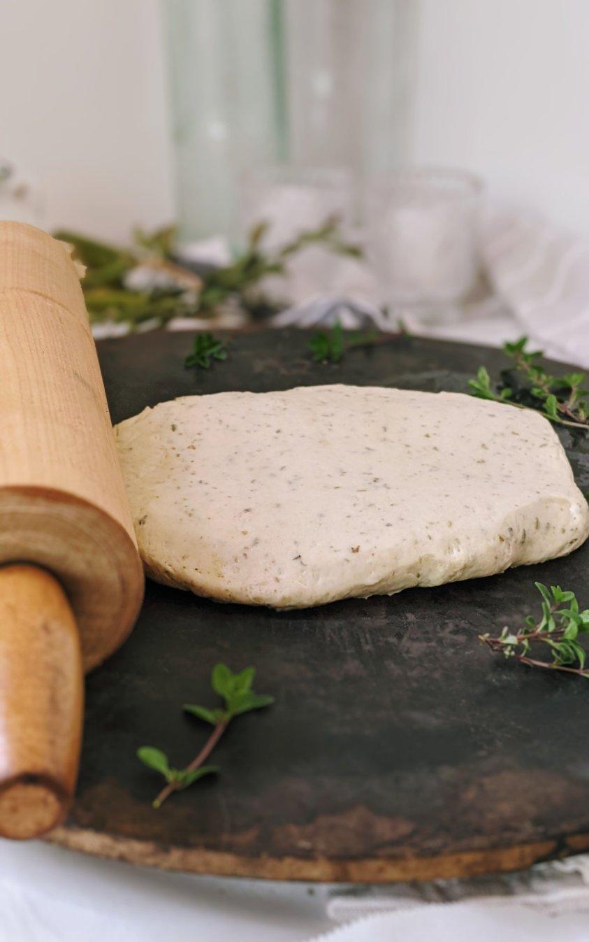 how to roll pizza dough vegan garlic and herbs recipe for pizza dough pantry pizza crust recipe with garlic and herbs olive oil pizza crust italian vegan vegetarian
