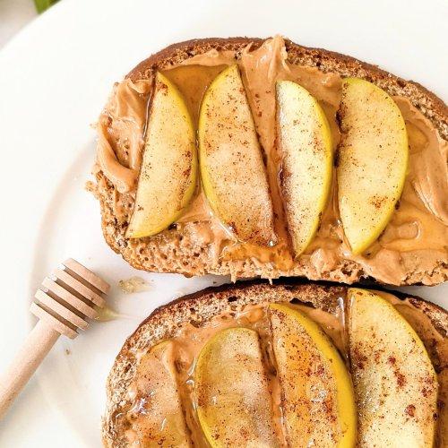 honey butter apple toast recipe high protein breakfast recipes vegetarian peanut butter apple toast recipe with cinnamon and raw honey breakfast recipes