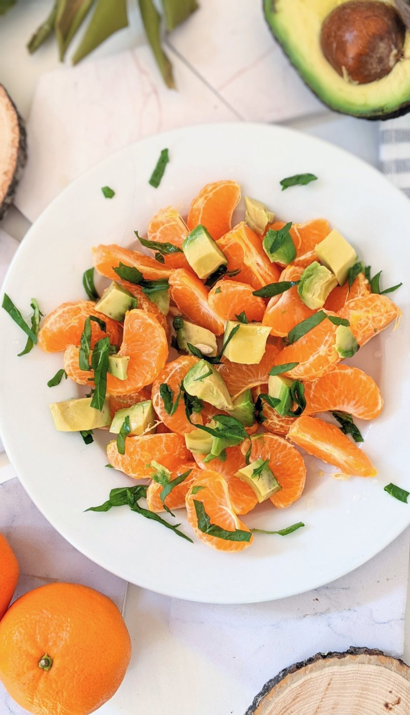 vegan gluten free plant based summer salas recipes avocado fruit salads with basil dressing citrus avocado salad recipe raw vegan breakfast ideas