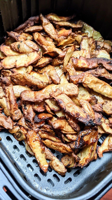 recipes plant based gluten free potato peel recipes fries with potato peels vegan fluten free air fry potato peels