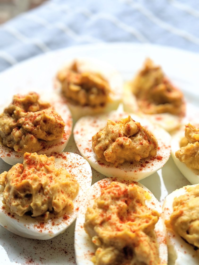 bbq deviled eggs vegetarian summer side dish recipes appetizers with bbq sauce and eggs recipes for parties healthy meatless appetizers for summer make ahead egg appetizer recipes