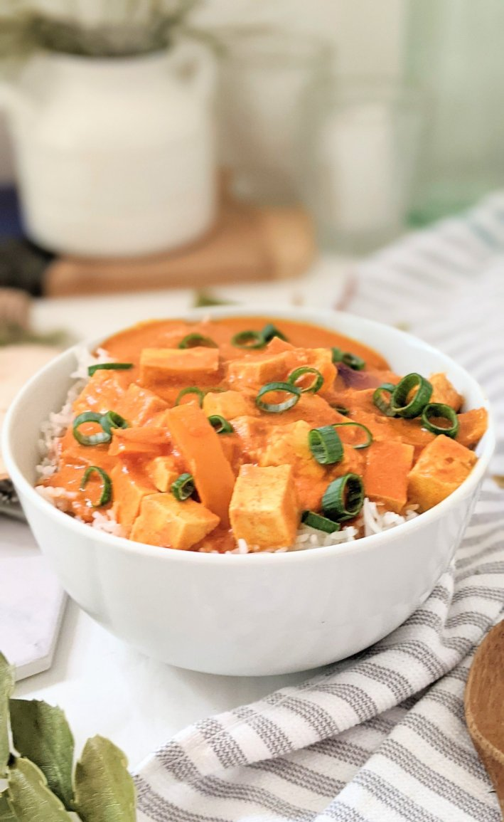 vegetarian butter tofu recipe dairy free vegan indian recipes with tomatoes coconut milk fenugreek coriander garam masala and tofu