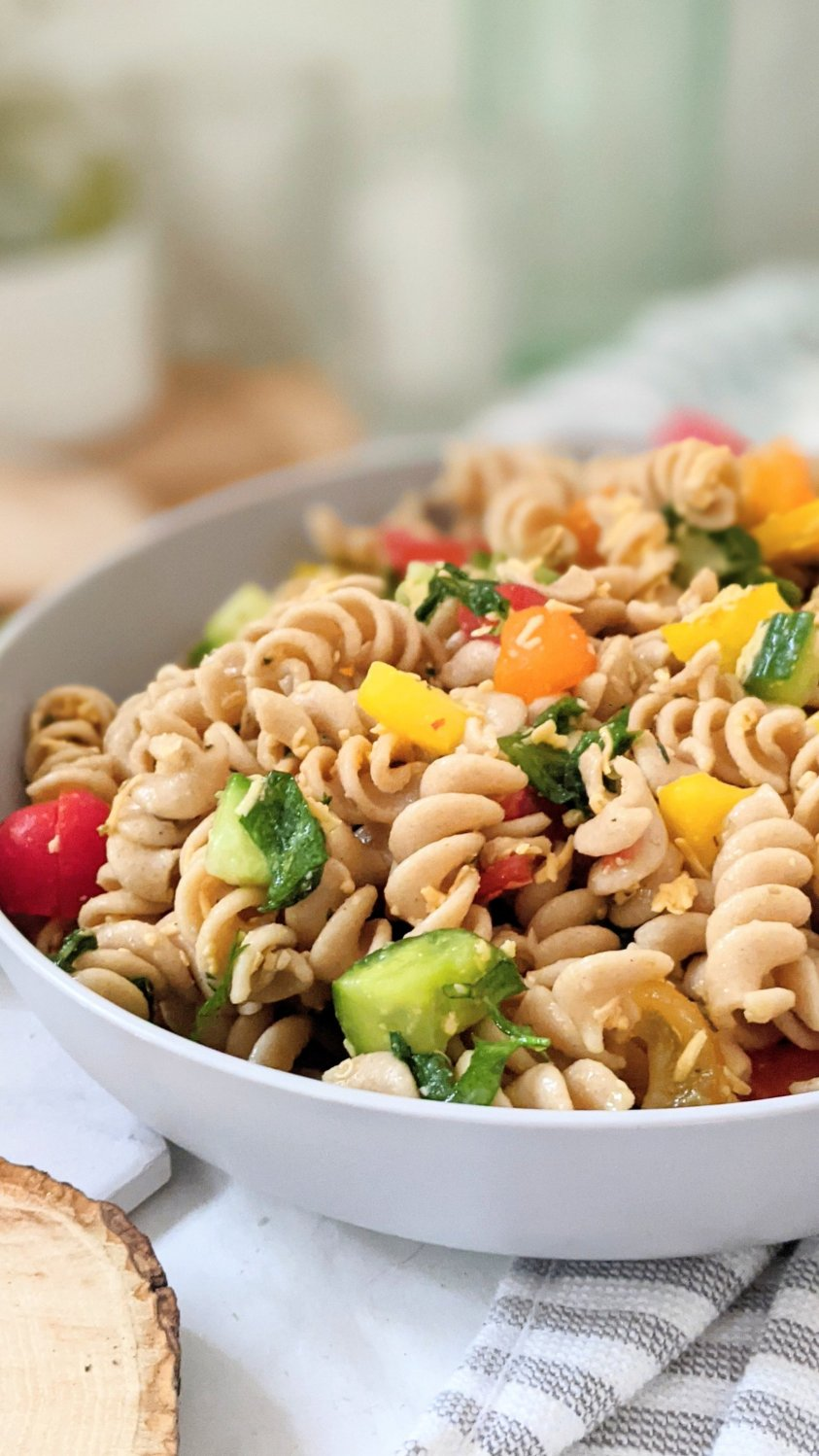 healthy pasta salad with vegetables recipe vegetarian gluten free bell pepper pasta salad tri colored pepper salad healthy noodle salad for summer bbq
