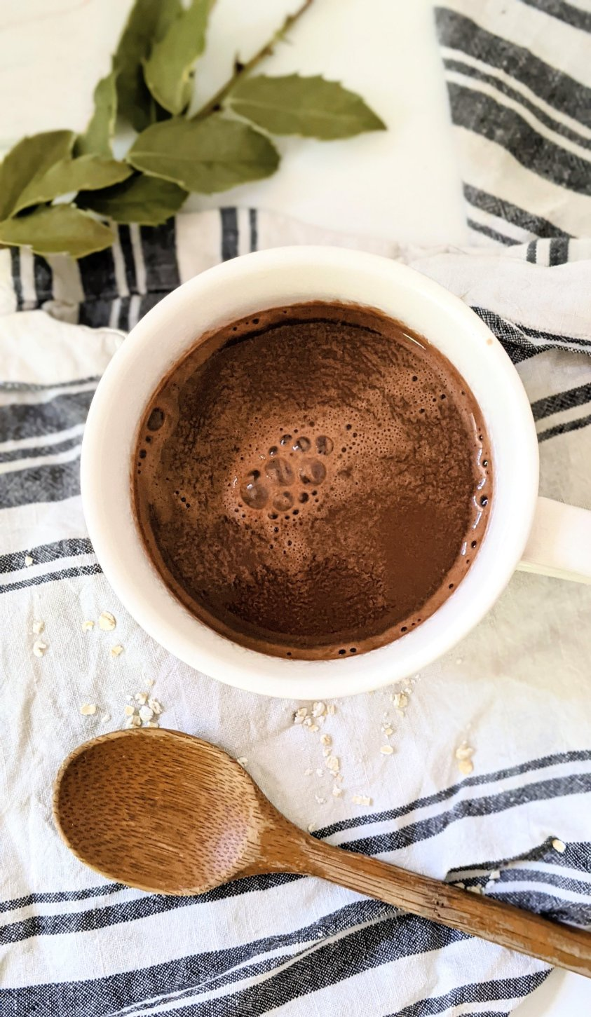 salted oat milk hot chocolate vegan gluten free dairy free hot cacao recipes with oat milk homemade not slimy how to make easy oat milk in blender recipe hot chocolate with sea salt