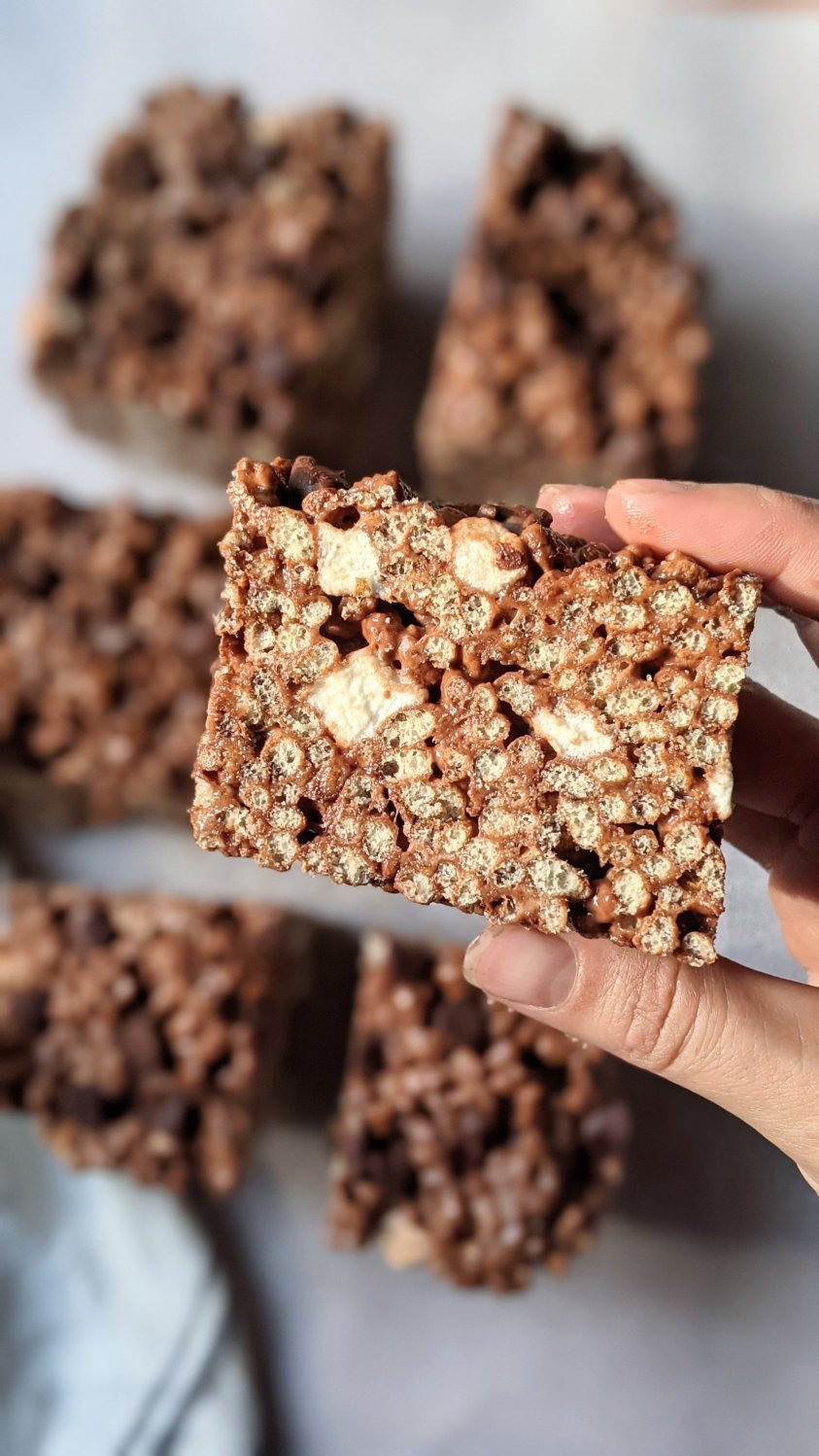 plant based chocolate rice krispie treats recipe vegan gluten free rice crispy cereal treat bars recipe with cocoa powder and brown rice cereal recipes healthy chocolate snacks for summer no glyphosophate or chemicals